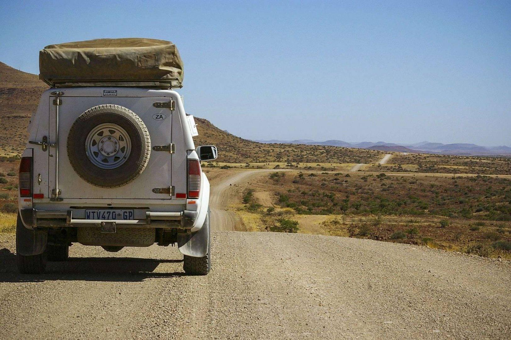 W afrykańskim buszu wyjazd Namibia